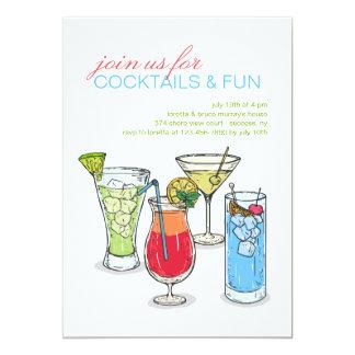 Convite da coleção do cocktail