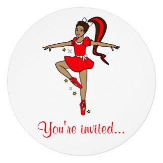 Convite da competição da dança: Bailarina no