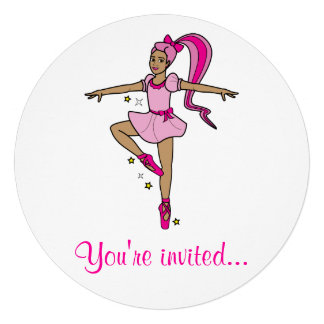 Convite da competição da dança: Bailarina no rosa