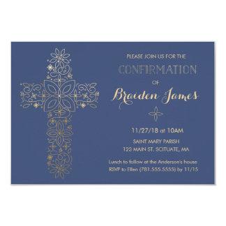 Convite da confirmação - a cruz do ouro convida