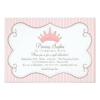 Convite da coroa do rosa da princesa festa de