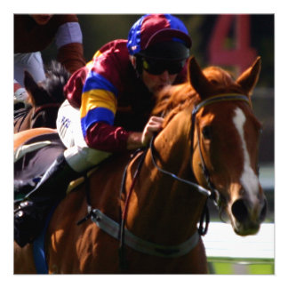 Convite da corrida de cavalos
