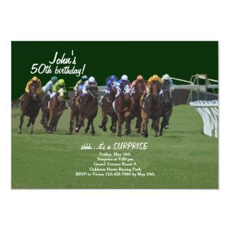 Convite da corrida de cavalos da inspiração de