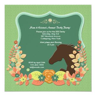 Convite da corrida de cavalos do círculo do