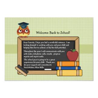 Convite da coruja da escola
