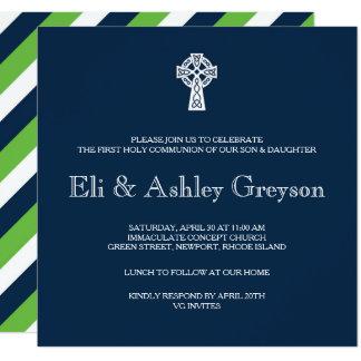 Convite da cruz celta - primeiro comunhão dos