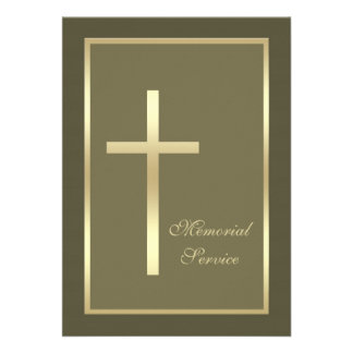 Convite da cruz do ouro da cerimonia comemorativa