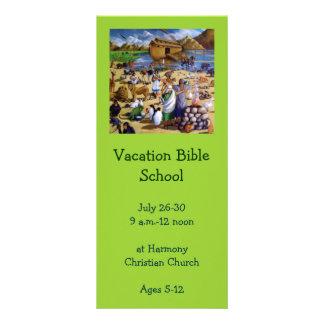 Convite da escola da bíblia das férias: Pintura de 10.16 X 22.86cm Panfleto