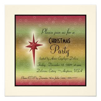 Convite da estrela do feriado