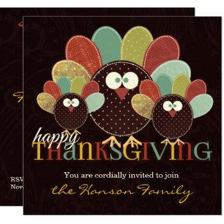 Convite da família |Thanksgiving de Turquia do