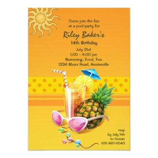 Convite da felicidade do verão