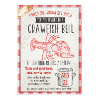 Convite da fervura dos lagostins