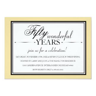 Convite da festa de aniversário de 50 anos