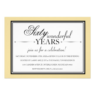 Convite da festa de aniversário de 60 anos