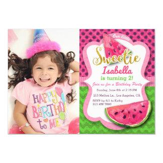 Convite da festa de aniversario de meninas da foto