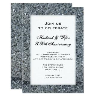 Convite da festa de aniversário do casamento da