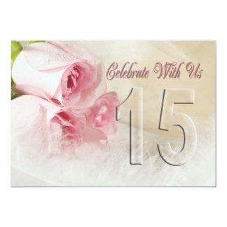 Convite da festa de aniversário por 15 anos