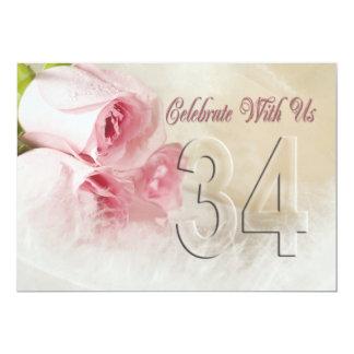 Convite da festa de aniversário por 34 anos