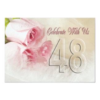 Convite da festa de aniversário por 48 anos