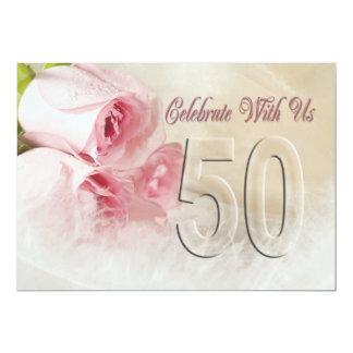 Convite da festa de aniversário por 50 anos