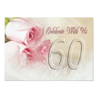 Convite da festa de aniversário por 60 anos