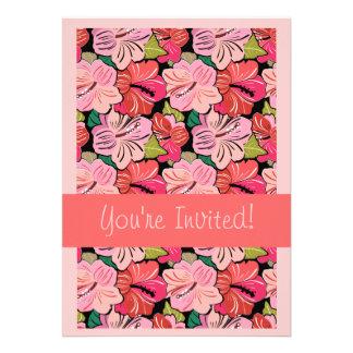 Convite da festa de casamento de Luau