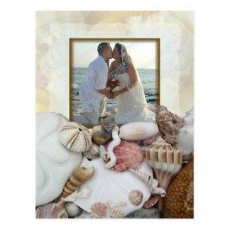 Convite da festa de casamento do quadro da foto do