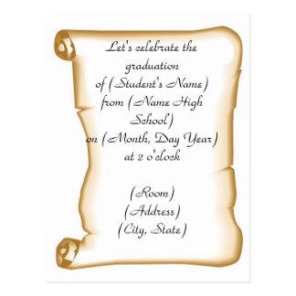 Convite da festa de formatura cartão postal