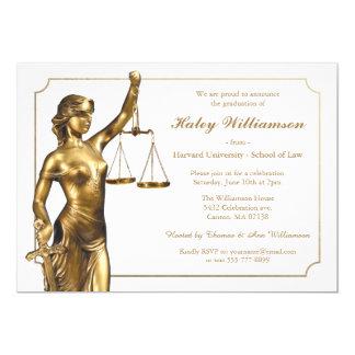 Convite da festa de formatura da escola de direito