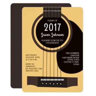 Convite da festa de formatura da guitarra acústica