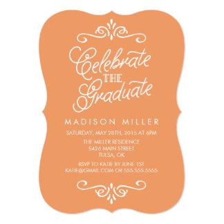Convite da festa de formatura da laranja | do