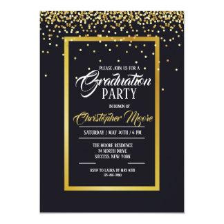 Convite da festa de formatura da poeira de ouro