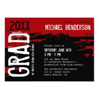 Convite da festa de formatura do Grunge -
