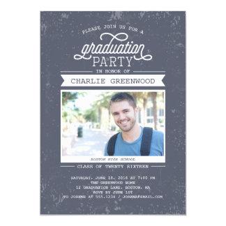 Convite da festa de formatura do Grunge com foto