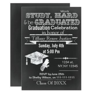 Convite da festa de formatura do quadro do vintage