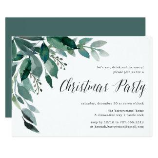 Convite da festa de Natal da abundância   do