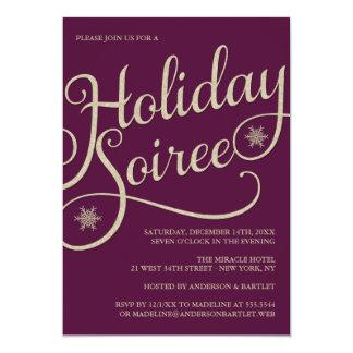 Convite da festa de Natal da faísca da reunião do