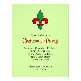 Convite da festa de Natal da flor de lis