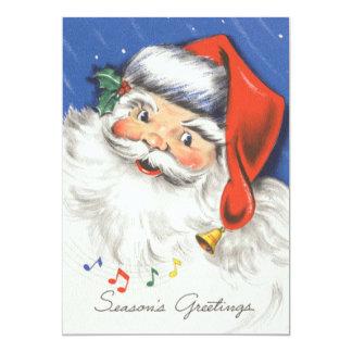 Convite da festa de Natal da música do papai noel