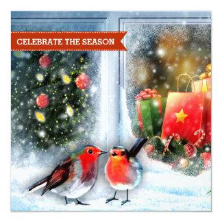 Convite da festa de Natal da pintura de cena da