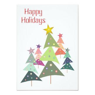Convite da festa de Natal das árvores da dança