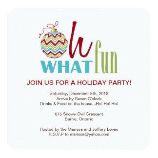 Convite da festa de Natal de Chevron do