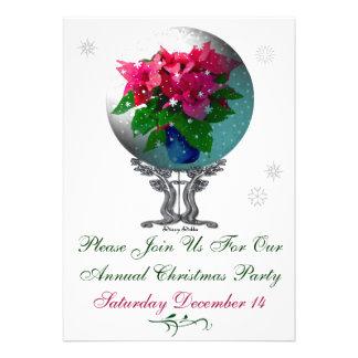 Convite da festa de Natal de Snowglobe