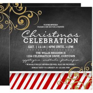 Convite da festa de Natal do bastão de doces