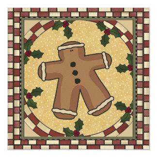 Convite da festa de Natal do biscoito do