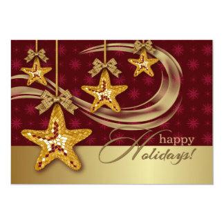 Convite da festa de Natal do design das estrelas Convite 12.7 X 17.78cm