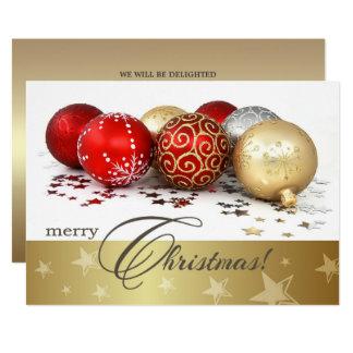 Convite da festa de Natal do design do Bauble do