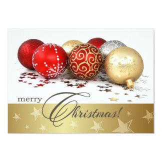 Convite da festa de Natal do design do Bauble do Convite 12.7 X 17.78cm