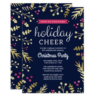 Convite da festa de Natal do elogio do feriado dos
