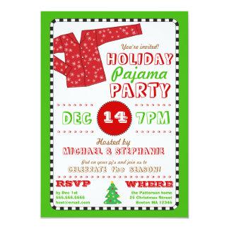 Convite da festa de Natal do pijama do feriado